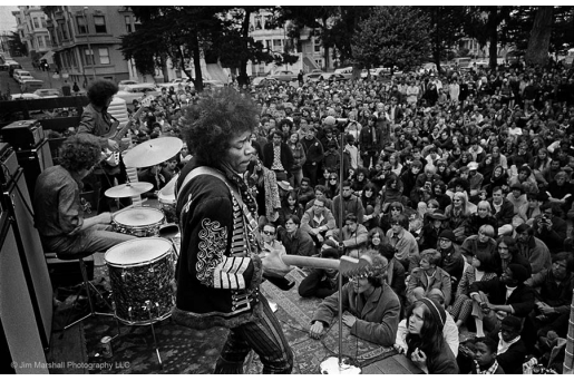 JIMI HENDRIX by JIM MARSHALL