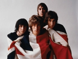 The Who with flag, Carnegie Hall Studio NYC by ART KANE
