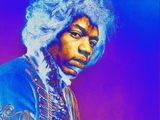JIMI HENDRIX, JIMI PSYCHEDELIC BLUE, 1967 by GERED MANKOWITZ