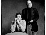 Philip Glass and Allen Ginsberg, Torino, 1992 by GUIDO HARARI
