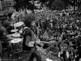 Jimi Hendrix, Panhandle, San Francisco, CA, 1967 by JIM MARSHALL